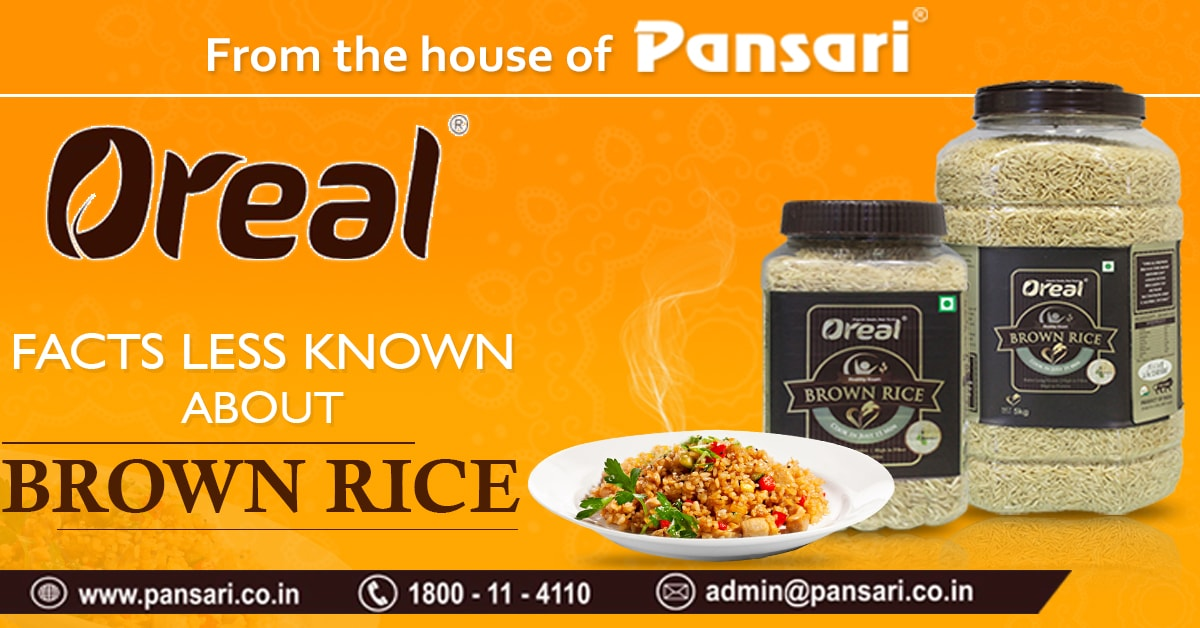 FACTS LESS KNOWN ABOUT BROWN RICE